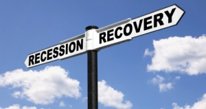 Recession Recovery signpost