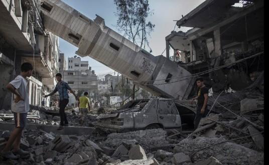 Part of the horrific destruction of Gaza
