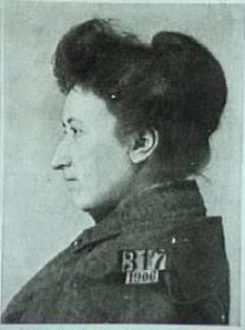 Prison photo of Rosa Luxemburg incarcerated for taking principled anti-war stance