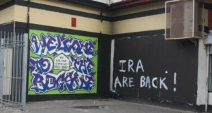 New grafitti which has appeared in the Bogside over the weekend. 3107JM61