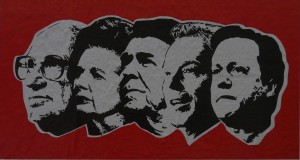 Neo-liberal ideologues: Friedman, Thatcher, Reagan, Blair and Cameron
