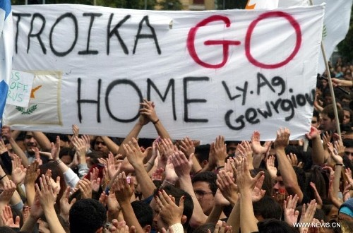 Troika protest Greece