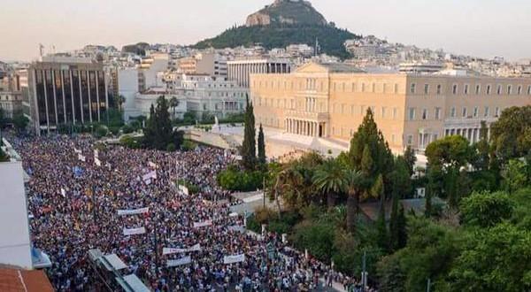 Oxi Athens protest